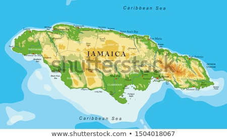 silhouette map of Jamaica Stock photo © mayboro