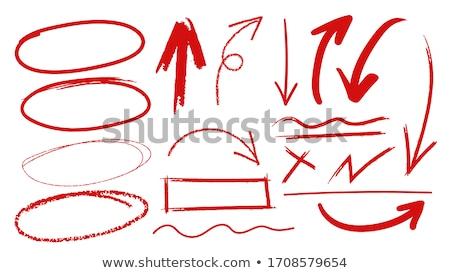 Rood pen geïsoleerd witte kantoor achtergrond Stockfoto © fantazista