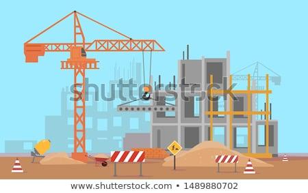 Toronyház építkezés magas helyszín beton struktúra Stock fotó © Lightsource