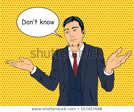cartoon confused middle aged man with thought bubble Stock photo © lineartestpilot