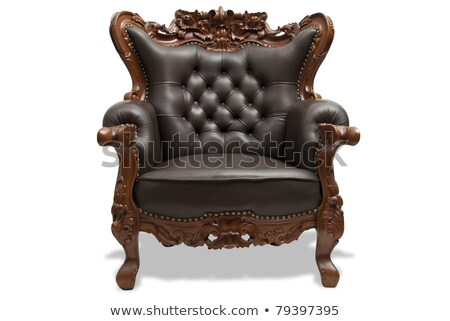 classical carved wooden chair Stock photo © ozaiachin