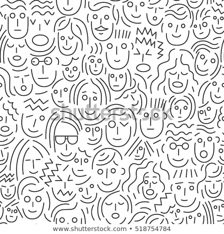 seamless pattern of male and female symbols stock photo © smeagorl