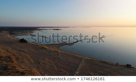 Güzel mavi gün batımı manzara deniz güzellik Stok fotoğraf © miracky