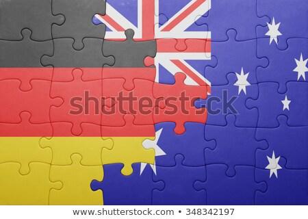 ストックフォト: オーストラリア · ドイツ · フラグ · パズル · ベクトル · 画像