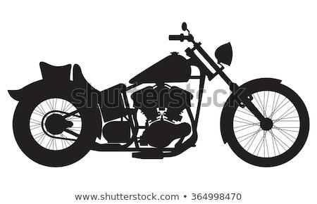 мотоцикл силуэта иллюстрация подробный дороги Сток-фото © silverrose1