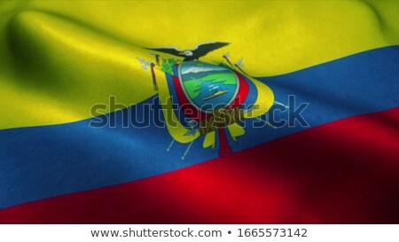 Vlag Ecuador geïsoleerd witte Stockfoto © MikhailMishchenko