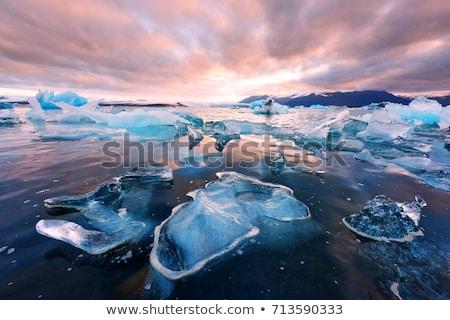Buzdağı plaj İzlanda gündoğumu buz mavi Stok fotoğraf © vichie81