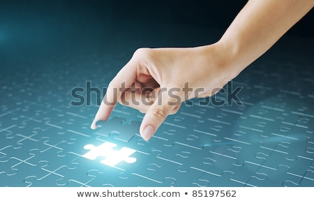decision   puzzle on the place of missing pieces stock photo © tashatuvango