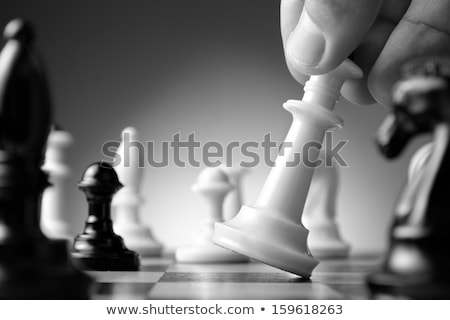 Black and white pawns making move Stock photo © wavebreak_media