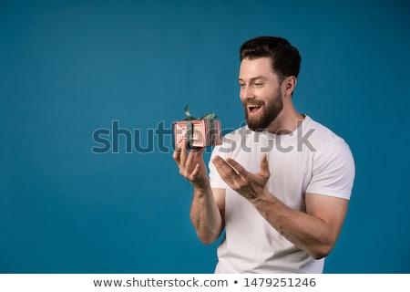 genç · mutlu · şaşırmış · adam · işaret · bana - stok fotoğraf © deandrobot