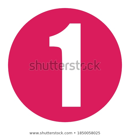 Numbers Counting Pink Vector Button Icon Design Set Stock photo © rizwanali3d