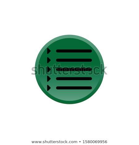 Stock fotó: Time Duration Green Vector Button Icon Design Set