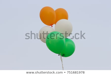 Flying balloons with flag of british indian ocean territory Stock photo © MikhailMishchenko