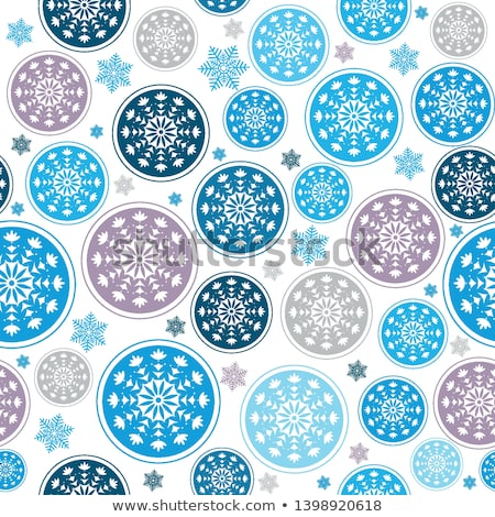 Stockfoto: Light Blue Christmas Seamless Pattern Eps 8