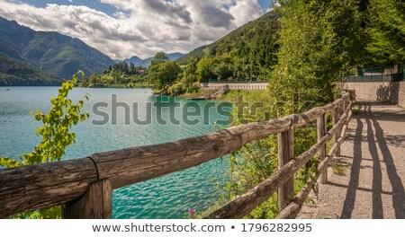 Lago italiano alpes panorâmico ver água Foto stock © MichaelVorobiev
