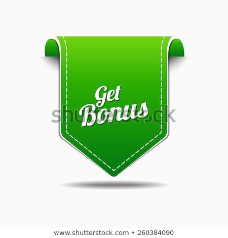 bonus · groene · vector · icon · ontwerp · digitale - stockfoto © rizwanali3d