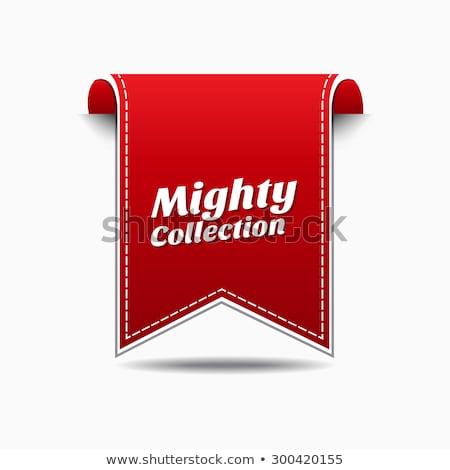 Machtig collectie Rood vector icon ontwerp Stockfoto © rizwanali3d