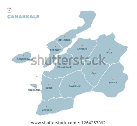 Map of Turkey, Canakkale Stock photo © Istanbul2009