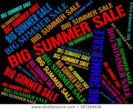 Zomer verkoop hot weer koopje verkoop Stockfoto © stuartmiles