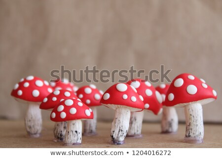 Plastic speelgoed champignon geïsoleerd witte school Stockfoto © GeniusKp