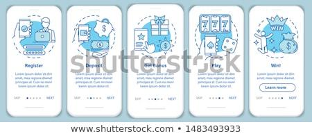 Stockfoto: Bonus · Blauw · vector · icon · ontwerp · digitale