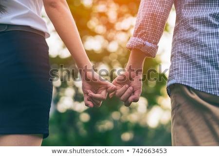 çift ayakta el beyaz adam Stok fotoğraf © wavebreak_media
