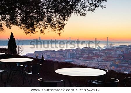 Restoran Lizbon Portekiz açık fantastik görmek Stok fotoğraf © joyr