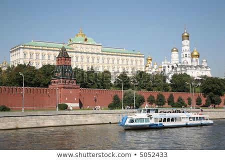 river vessel against the background of the Kremlin Stock photo © Paha_L