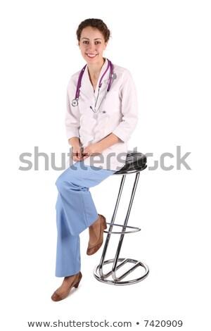 doktor woman sit on the bar stool stock photo © paha_l