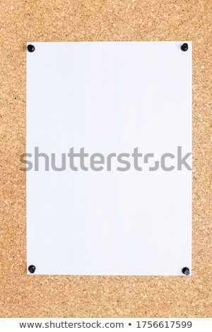 white blank papper with  pin Stock photo © shutswis