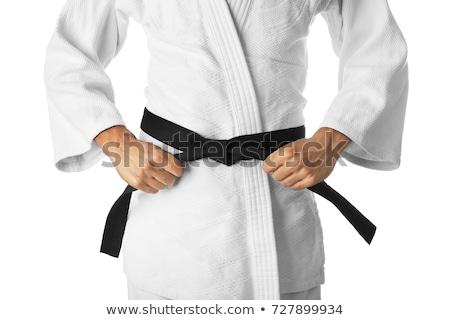Karaté lutteur isolé blanche sport garçon Photo stock © Elnur