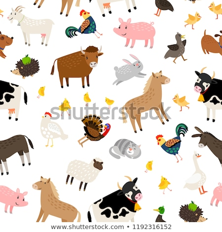Doodle pattern farm Stock photo © netkov1