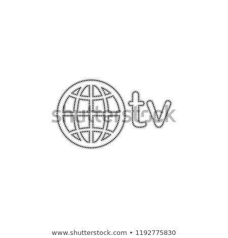 домен точка телевизор знак икона иллюстрация Сток-фото © kiddaikiddee