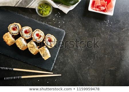 örnek balık sebze beyaz sushi pirinç Stok fotoğraf © bluering