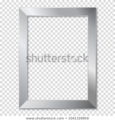 銀 フレーム 孤立した 白 テクスチャ 背景 ストックフォト © plasticrobot