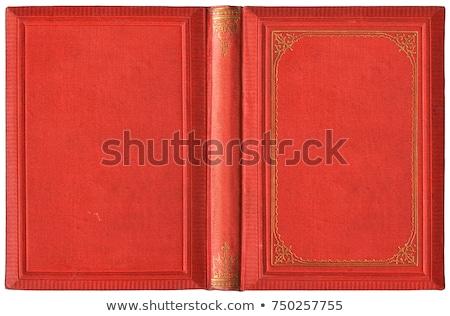 açık · kitap · açmak · kırmızı · ciltli · kitap - stok fotoğraf © axstokes