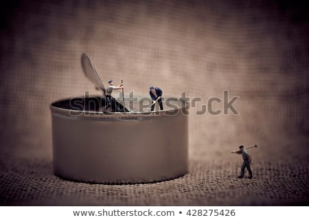 process of opening metal can color tone tuned macro photo stock photo © kirill_m