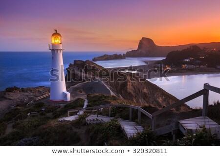 Castlepoint Lighthouse on Rock Stock photo © rghenry