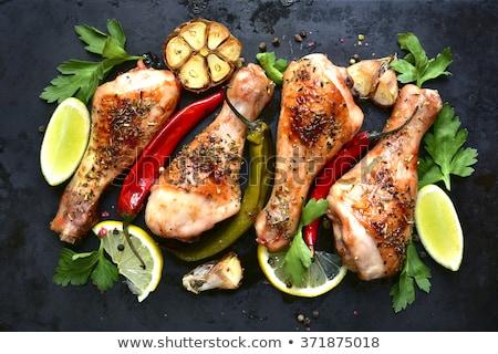 sültcsirke · láb · tyúk · vacsora · fehér · ebéd - stock fotó © m-studio