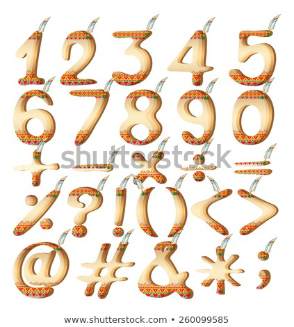 Numeric figures in Indian artwork Stock photo © bluering