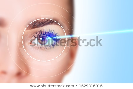иллюстрация · расплывчатый · видение · анатомии · глаза · поперечное · сечение - Сток-фото © bluering