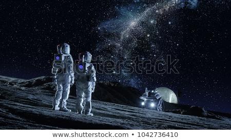 пространстве · звезды · планеты · белый · бумаги · текстуры - Сток-фото © bluering