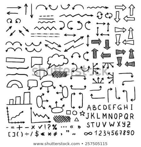 Stock fotó: ábécé · kockák · rajz · ikon · vektor · izolált