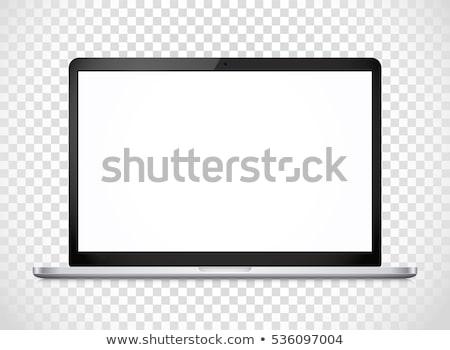 Notebooka komputera ilustracja biały szkoły pracy Zdjęcia stock © bluering