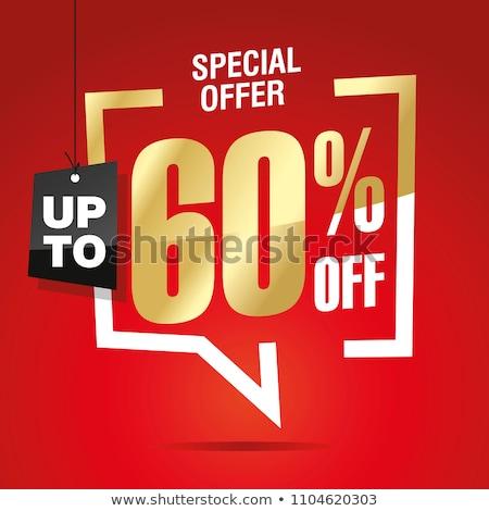 60 financière vente nombre acheter face Photo stock © dzsolli