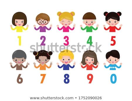 çocuklar sayılar bir on örnek çocuk Stok fotoğraf © bluering