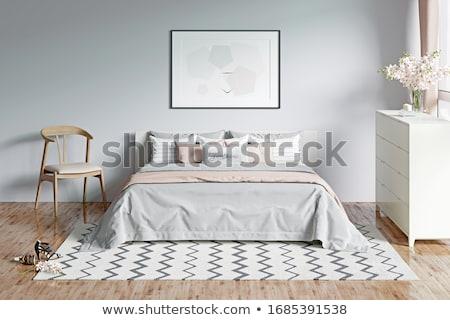 Romantica camera da letto interior design primo piano grande divano Foto d'archivio © IMaster