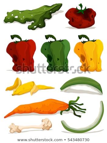 Verschillend rot groenten illustratie achtergrond banaan Stockfoto © bluering