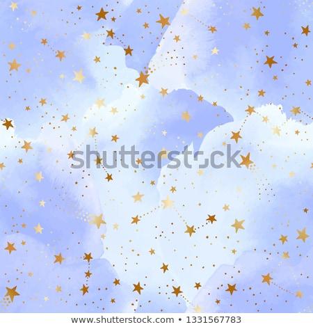 Сток-фото: пространстве · шаблон · звезды · облака · ракета · UFO