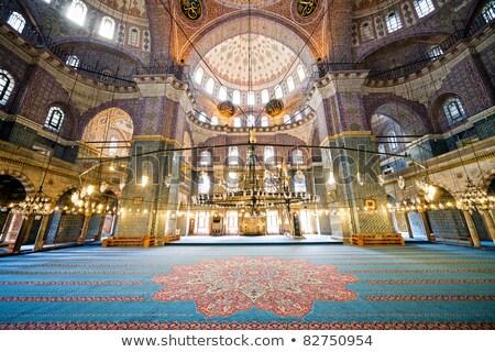 Iç türk cami avize renkli dekore edilmiş Stok fotoğraf © Xantana